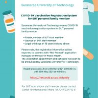 COVID-19 Vaccination Registration System for SUT personl family member