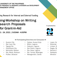 Training-Workshop on WritingResearch Proposals for Grant-in-Aid