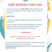 AUAP Research Fund 2021 project