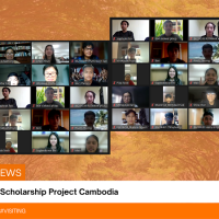 The 3 Committees of Royal Scholarship Project visit Cambodia Royal Scholarship students at SUT